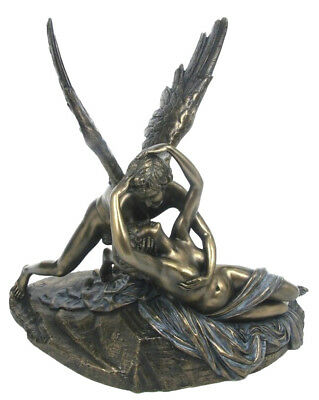 Veronese Bronze Figurine Greek Mythology Psyche Revived By Cupid's Kiss Ornament