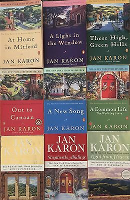 """mitford Years"" Book Series By Jan Karon ~ Complete Set Books #1 - 9 ~ Softcover"