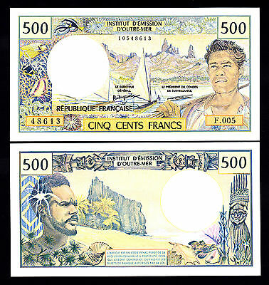 French Pacific Territories 500 Francs ND 1992 P. 1a UNC Note
