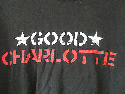 2000 Good Charlotte Mens Double Sided Large Black T-Shirt