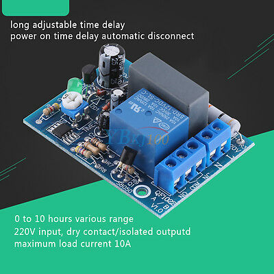 AC220V 230V Adjustable Timer Delay Turn On/Off Switch Time Relay Module HighQ HH