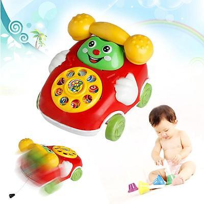 Hot Baby Kid Cartoon Phone Multicolor Toys Belt No Battery Durable DIY Device PS