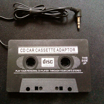 Black Car Audio Tape Cassette to Jack AUX for IPOD MP3 IPhone 3.5mm Connector