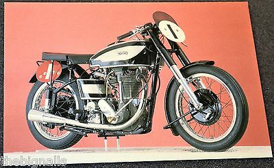 Classic 1950 500cc NORTON The famous  Manx Norton . Motorcycle Postcard