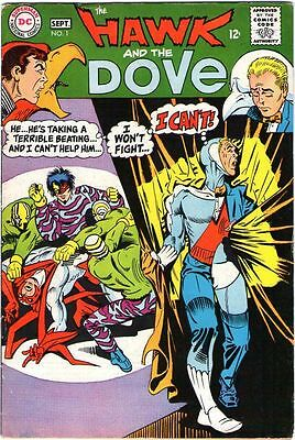 Hawk and Dove # 1 Silver age Beautiful cover Art Rare Comic Book 1st issue......