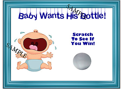 Baby Boy Baby Shower Scratchie Card Game Party Game Lot Of 20