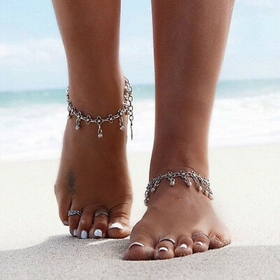 New Gypsy Indian Charm Ankle Bracelet Bead Anklet Pendant Foot Chain Belly Dance