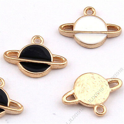Enamel Gold Plated Charms Planet Small Pendants DIY Bracelet Jewelry Making /999