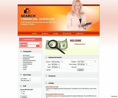 Personal, Corporate Financial Services Website For Sale. FREE Domain Name.