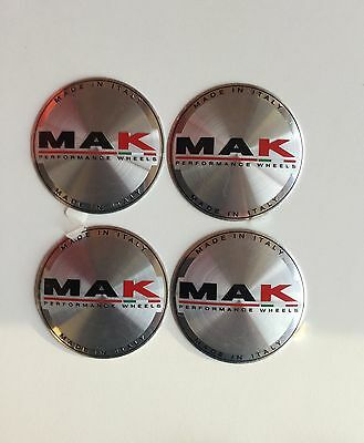N.4 CAPS COPRIMOZZO MAK WHEELS ORIGINALI GENUINE E001 60mm 8020001143
