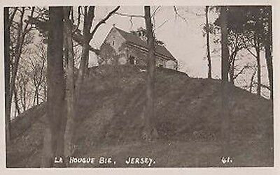 Jersey Le Hougue Bie House On Hill Antique Real Photo Postcard