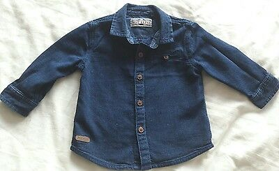 Next baby boys denium style shirt 9-12 months Immaculate