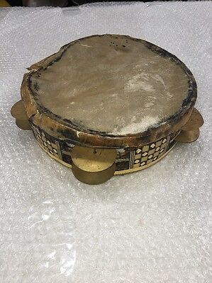 Antique Tambourine For Spares Or Repairs