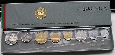 Morocco 1951-1965 Paris Mint Set of 8 Coins,With 2 Silver Coins