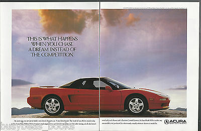 1991 ACURA NSX 2-page advertisement, Honda Acura sports car