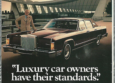 1978 LINCOLN CONTINENTAL advertisement, Lincoln ad, big chrome grill, at airport