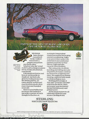1991 STERLING 827SL advertisement, made by Rover, woodworking tools
