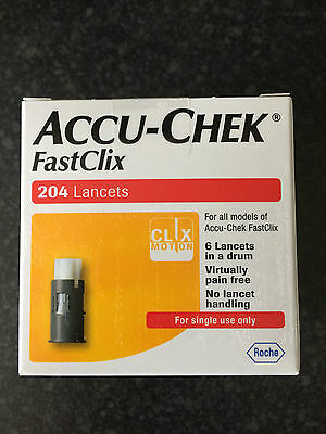 Accu-Chek Fastclix - 204 Lancets - Brand New and Sealed Box (1)