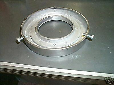 gas pump globe top adaptor base 6 in. reproduction new polished aluminum