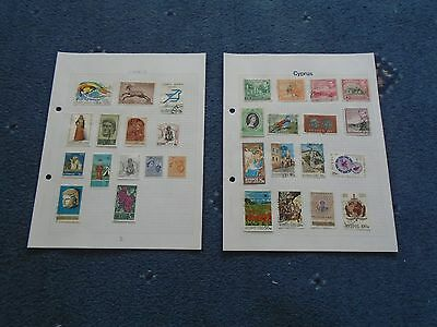 collection of stamps Cyprus hinged on album pages (a)