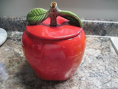 SCT Apple Ceramic Cookie Jar Red #8422 & #8426 Vintage Collector