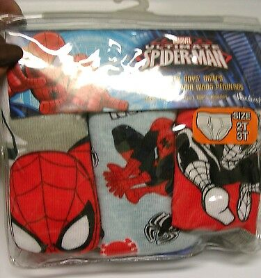 Marvel Ultimate Spider-Man  3 Pairs Boys  Underpants/briefs Size 2T-3T  Nwt