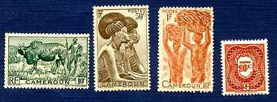CAMEROON-#304,307,310,J24-Group of 4-MNH
