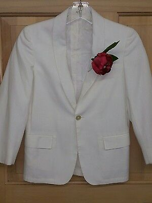Vintage 70s After 6  White Boys sz 10 Tux Dinner Tuxedo Jacket