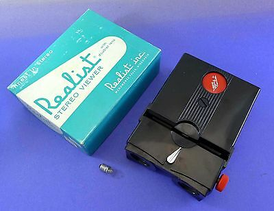 LATER Stereo Realist Red Button viewer serviced by DrT - with LED bulb