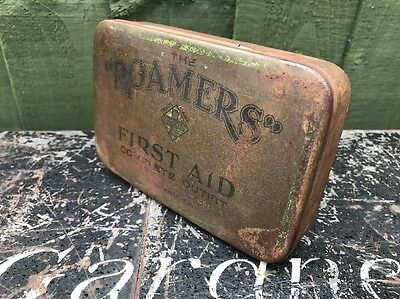 Vintage Retro Antique 'THE ROAMERS FIRST AID' Box Tin & Contents RARE