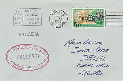 Fiji 4506 - Used in BALBOA, CANAL ZONE 1968 PAQUEBOT cover to UK
