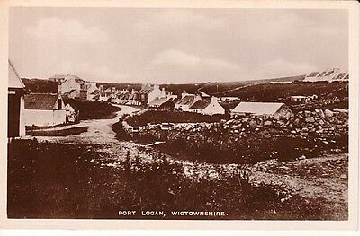 RP Early PORT LOGAN VILLAGE - road with houses, path, walls, shrubs