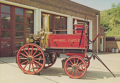 James Merryweather 1949 Fire Engine Presented to Sussex Fire Bridage Postcard