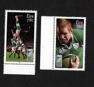 Ireland 2007-Rugby World Cup Set Of 2 Stamps.  Mnh