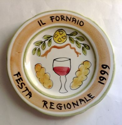 Il Fornaio Festa Regionale Plate 1999 Hand Painted In Italy