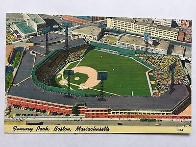 Vintage Fenway Park Linen Stadium Postcard Boston Red Sox, MA Never Mailed