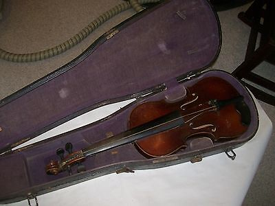 Violin for restoration unmarked 4/4 as found