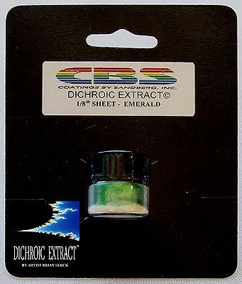 CBS Dichroic Extract Powder Emerald Green Works With Any COE 43822