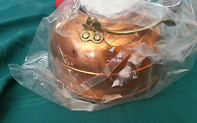 VIntage Revere Ware Solid Copper Tea Kettle 2 Quart New Old Stock In Box! 2252-2