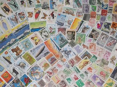 Huge Collection Of All Different Asian Stamps Loaded With Large Pictorials!