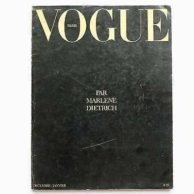 1973 MARLENE DIETRICH special Vogue Paris 70s vintage French fashion Guy Bourdin