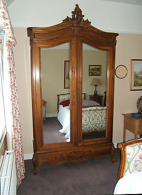 Beautiful Antique French Double Mirrored Armoire