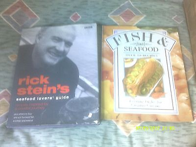 2 Seafood Recipes Books - Rick Stein's Seafood Lovers Guide & 80 Seafood Recipes