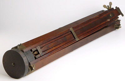 antique wooden tripod with brass fittings f/large format wood Plate Field camera