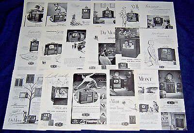 Lot of 19 Ads Advertisements ~ DUMONT TV Television 1947-1952