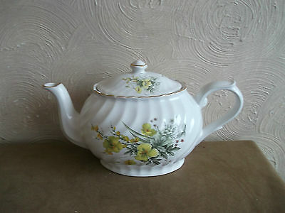 Arthur Wood Yellow Floral Large Teapot 6390