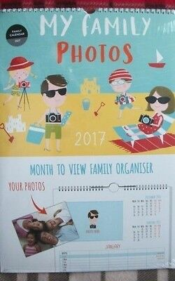 'My Family Photos' 2017 Family Organiser Month To A View - 5 Columns