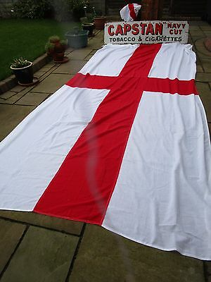 massive Ex Navy stitched George cross FLAG BRITISH MADE Approx 12ft x6ft quality