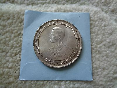 1963 Thailand 20 Baht large Silver coin Nice