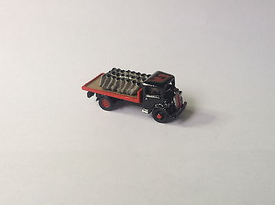 N metal HAND-PAINTED Ford 7V S.W.B. Flatbed Coal Lorry (1937-49) - Brand New!!